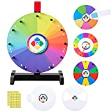 WinSpin 12' Spinning Wheel Teaching Aid Material Math Words Time Game Templates Kids Early Skill Development