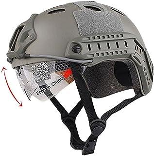 H mundo UE Airsoft táctico Estilo Militar SWAT combate PJ tipo Casco Fast con gafas de protección para los ojos Paintball