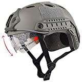 H World EU Airsoft Tactical estilo militar SWAT Combat PJ tipo casco rápido con gafas para CQB Shooting Paintball (FG)