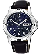 Lorus Gents Leather Strap Sports Watch Blue Dial 50m Water Resistance RXN51BX9