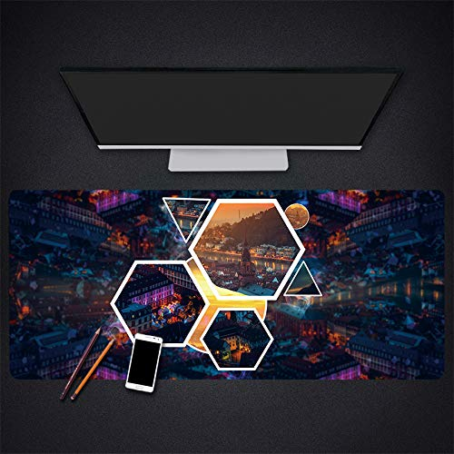 muismat groot landschap patroon rubber groot formaat slip spel laptop desktop pc muis pad notebook toetsenbord muis pad, 300 * 700 * 3mm