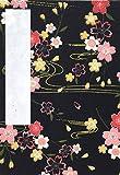 【Amazon.co.jp 限定】和紙かわ澄 御朱印帳 16×11.2cm 友禅和紙 はんなり 桜の舞 黒 80724