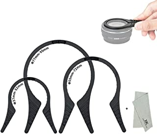 3 Packs Camera Lens Filter Wrench Kit, CPL UV ND Filter Removal Wrench Tool Set, Fit 37mm-52mm 55mm-72mm 77mm-95mm Lens Thread for Canon Nikon Sony Fujifilm Olympus Panasonic and Other Camera