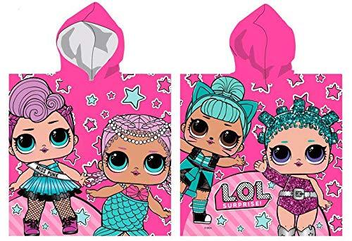 LOL SURPRISE Poncho Toalla Playa Micro 70x140 Tiempo Libre y Sportwear Infantil, Juventud Unisex, Multicolor (Multicolor), Talla Única