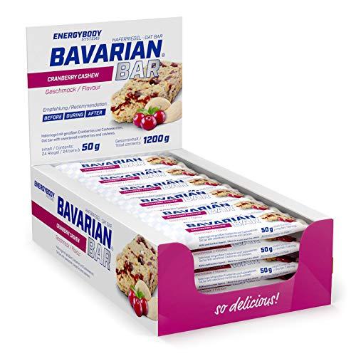 Energybody Bavarian Bar (Cranberry Cashew) Haferriegel | Ausdauer & Energie Riegel aus Hafer | Vegan | 24 x 50 g