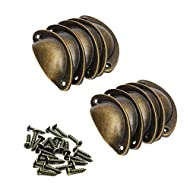 Vintage drawer pull knob for decorating the drawer. Brass iron drawer features shell shape. Come with antique brass color screws. Used for cabinet, drawer, bin, dresser, cupboard etc. Package includes: 10 x Shell Handle, 20 x Screws.