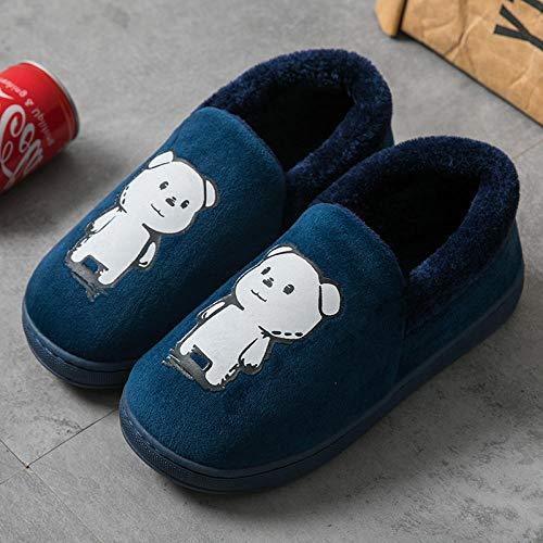 Nikai poo slippers, Verwarming slippers voor vrouwen, Winter damestas met indoor thuis leuke pluche warme katoenen slippers, microdisk slippers vrouwen