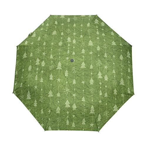 DEZIRO kerstboom licht groen papier achtergrond drie vouw buiten?paraplu?auto open waterdicht