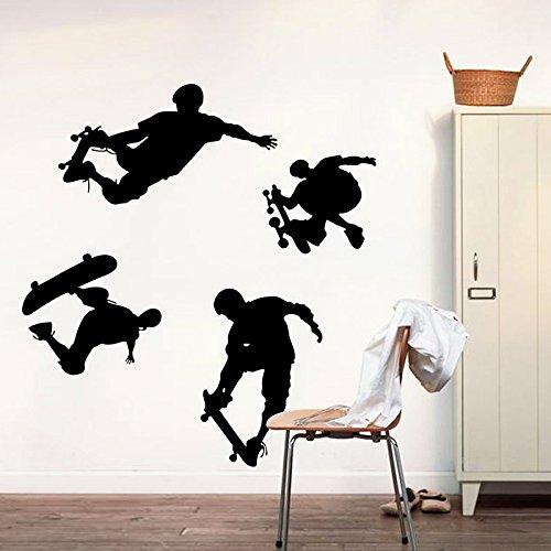 Spielen Skateboard Wand Aufkleber Home Aufkleber House Dekoration Tapete abnehmbarer Living Eßzimmer Schlafzimmer Kitchen Art Bild Wandmalereien DIY Stick Mädchen Jungen Baby Kinderzimmer Spielzimmer Dekoration