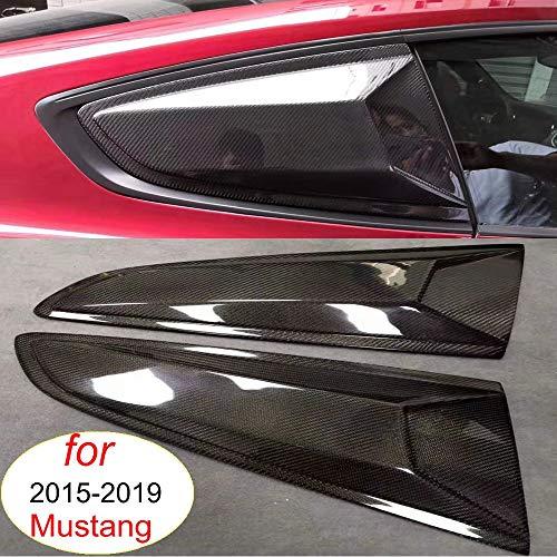 4D de Coches Ventana Lateral Rejilla Salida de Aire de la Ventana Visera Parasol Cubierta ABS Lado Ajuste Parabrisas Fit for Ford Mustang Robot Pegatina for 2015-2019