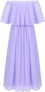 Summer Chiffon Princess Girls Dress Elegant Wedding Party Vestidos Formal Occasion Long Dress
