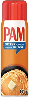 Pam Non-Stick Cooking Spray, Butter Flavour, 141 gm (Pack of 1)