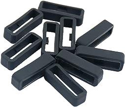 Prettyia 10 Pieces Silicone Watch Strap Band Fastener Rings Loop for Garmin Fenix Series