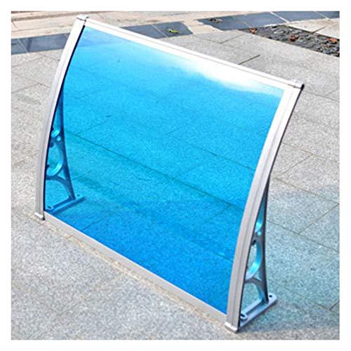 LIQICAI Tejadillo De Protección, Marquesina para Puertas Y Ventanas Al Aire Libre Cubierta De Policarbonato De Sombra Protección UV/Lluvia/Nieve Toldo del Patio, Múltiples Tamaños