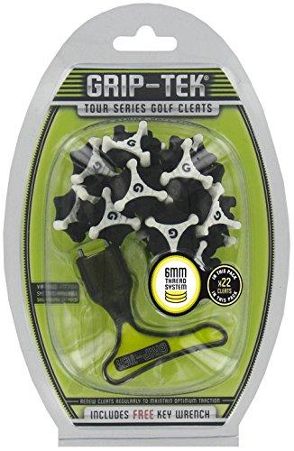 Grip-Tek - Golf Spikes in schwarz, Größe 6 mm