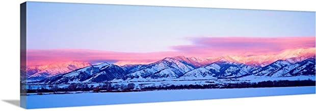 GREATBIGCANVAS Montana, Bozeman, Bridger Mountains, Canvas Wall Art Print, Mountain Home Decor Artwork,