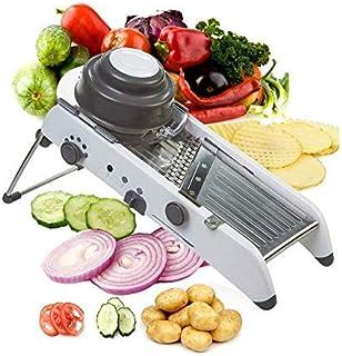 ADOV Mandoline Multifonctions Cuisine, Acier Inoxydable Professionnelle Trancheuse, 18 Formes Réglable sans BPA Manuel Cou...