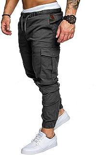 Socluer Homme Pantalons Casual Jeans Sport Jogging Slim Fit Militaire Cargo Montagne Baggy Pants Multi Poches Grande Taill...