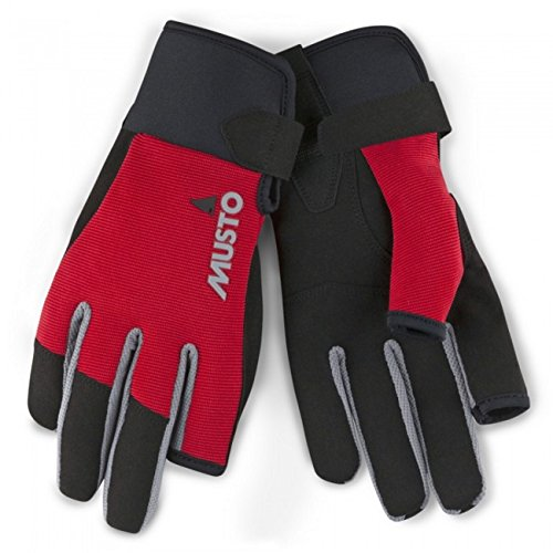 Musto Essential Sailing Long Finger Glove True Red-M