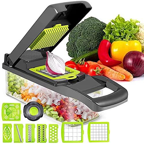 Cortador de Verdura Mandolina de Verduras Multifuncional Mandolina de Cocina Slicer Espiral Rallador de Cuchillas Acero Inoxidable, Pelador,Cortador de Patatas