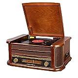 XXSHN Tocadiscos Retro, Tocadiscos Bluetooth Tocadiscos, con Altavoces Integrados, Tocadiscos de 3 velocidades, Grabador de fonógrafo Vintage (Tocadiscos)