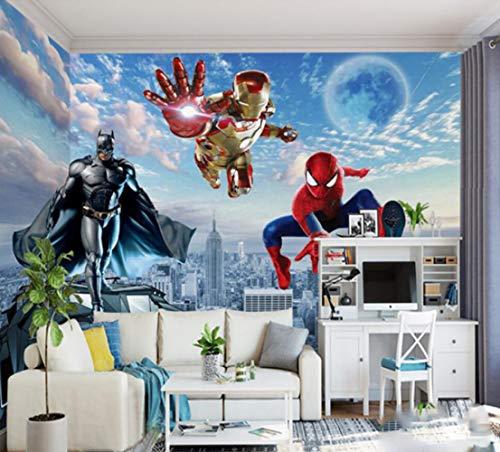 Personnalisé 3d Photo Papier Peint 3d Mural Avengers Enfants Chambre Chambre Garçon Fond Papier Peint Superman Spiderman Papier Peint