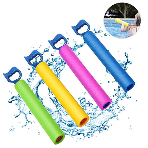 Kyerivs Water Blaster Soaker Squirt Guns Foam Water Gun Shooter Summer Fun Outdoor Swimming Pool Beach Party Games Toys for Kids Boys Girls Adults(4 Pack)