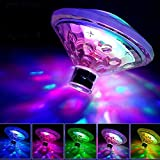 Funihut Untertauchbares LED-Licht, bunt, dekorativ, Beleuchtung, wasserdicht, Bunte Lampen, RGB,...