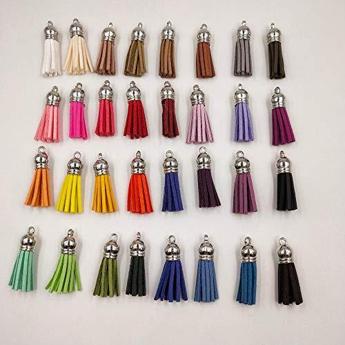 50pcs 38mm plata Vintage Cuero Borlas/accesorios de la joyería/accesorios de la joyería/pendientes accesorios-default