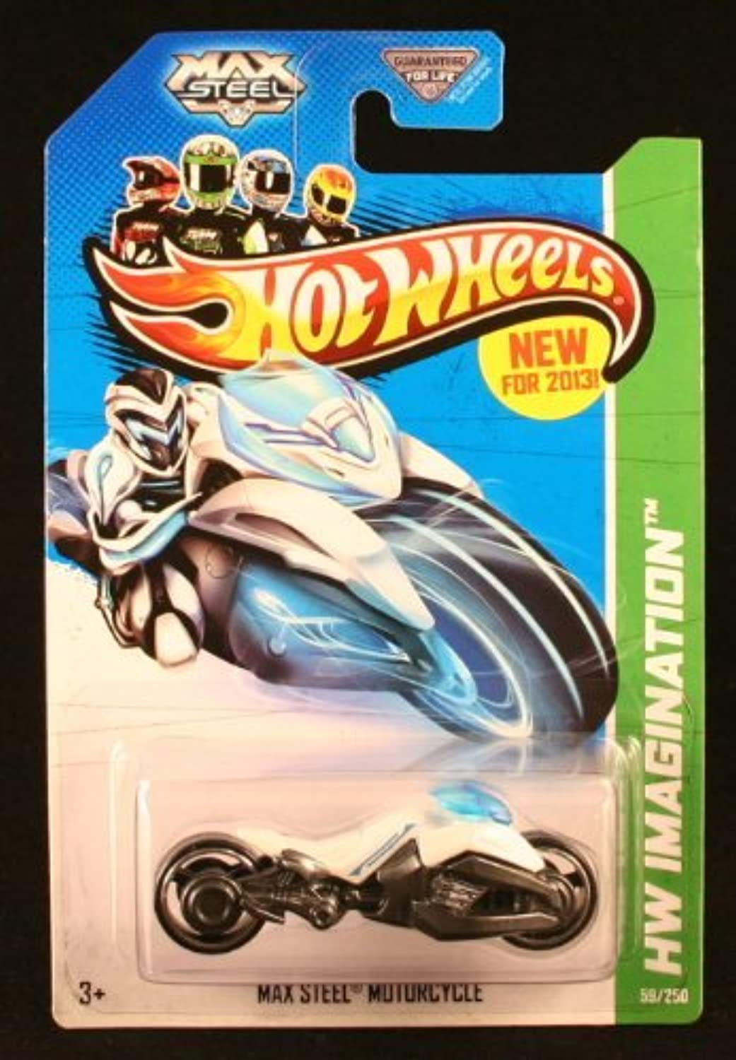 Max Steel Motorcycle '13 Hot Wheels 59 250 (White) Vehicle by Hot Wheels