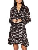 Scotch & Soda Maison Womens Langärmliges Kleid mit transparenten Streifen und Blumen-Print Casual Dress, Combo E 0221, M
