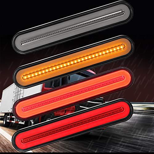 Evermotor LED Truck Trailer Anhänger Rücklicht, Dynamisch Sequentiell Fließendes Signallicht Anhänger Rücklicht Stop Turn Bremslicht Für LKW Bootsanhänger