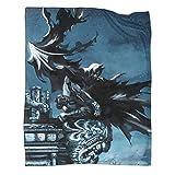 Xaviera Doherty Manta de franela con diseño de Batman The Dark Knight Gotham Movie de 100 x 130 cm, cómoda felpa que mantiene el calor.