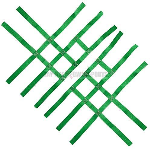 Nerf Bar Nets for Tusk Alba 757 Titan Fits Honda Yamaha Suzuki Kawasaki Green