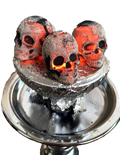 30 Totenköpfe Kohle für shisha, Hooka, Wasserpfeife : Skullforshisha