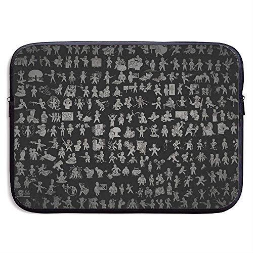 BLANKNTC Bussiness Laptoptasche,Laptop Aktentaschen,Notebook Sleeve Hülle,Wasserdicht Notebooktasche,Fallout New Vegas Tablet-Schutztasche,Laptop-Hülle,Tragetasche 15in