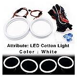 SUNYANG Summer Solstice 1 Set (100 + 120) MM Halo Anillos Luz de algodón LED Angel Eyes Ajuste para BMW E90 E91 E92 E93 M3 E81 E82 E87 E88 Lámpara de Estilo de automóvil (Color : White Light)