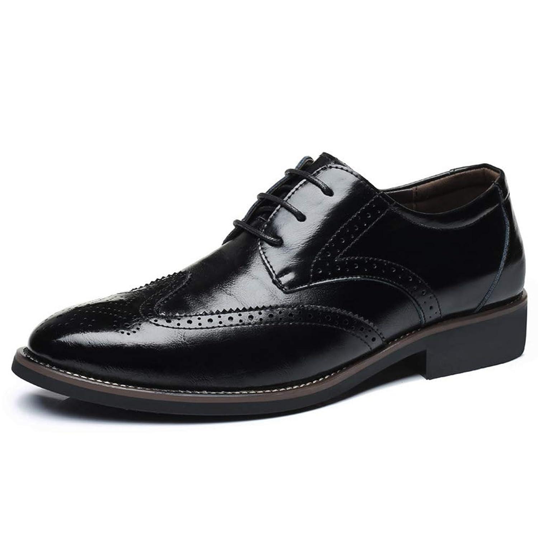 [OceanMap] 大きいサイズ ビジネスシューズ メンズ おしゃれ フォーマル ポインテッドトゥ ビジネス ストレートチップ 紳士靴 ドレスシューズ 小さめ ネイビー イエロー 黒 茶 29cm 28cm
