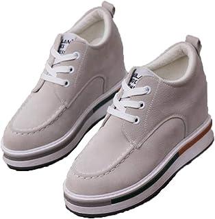 Zapatos de Plataforma de otoño para Mujer Zapatillas de Deporte de cuña de Gamuza Resistentes Antideslizantes Parte Inferi...