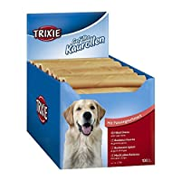 Delicious snack food treat for dog Made of dried rawhide with tripe filling Most dogs love to chew incessantly Helps rub the plaque from the teeth Can support your dog's dental health