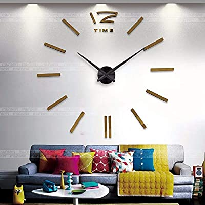 Imoerjia European Style Large Wall Clock Art Wall in Living Room Style Table DIY Personalized Clock