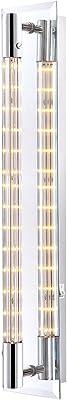Applique DEL 16 W luminaire mural lampe LED chrome verre clair couloir chambre