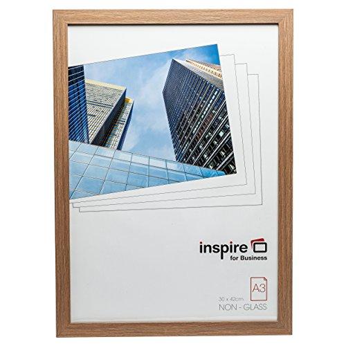Hampton Frames SORBONNE Calidad marrón Efecto Madera a3 30x42cm Certificado Foto póster Marco en Efecto Madera con Vidrio plexi. SORA3NG