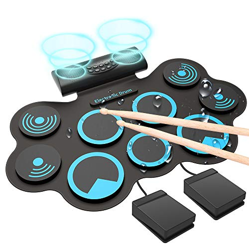 Electronic Drum Electronic Drum Set, Adult Beginner Portable MIDI Electronic Roll Up...
