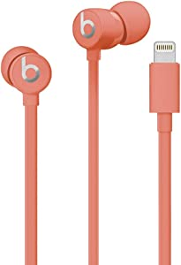 urBeats Wired Earphones with Lightning Connector - Tangle Free Cable, Magnetic Earbuds, Built in Mic and Controls - Coral