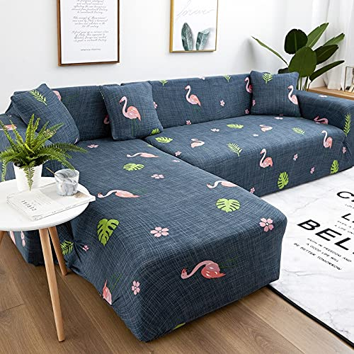 ASCV Funda de sofá elástica Gruesa Funda de sofá reclinable Universal para sofá Cama Funda de sofá retráctil de 1/2/3/4 Asiento para Sala de Estar A3 3 plazas