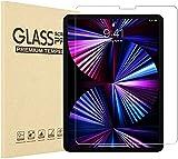 YMXuan - Protector de pantalla para iPad Pro12.9 pulgadas 2021/2020 (5ª/4ª generación), 9H película de vidrio templado, resistente a huellas dactilares y arañazos