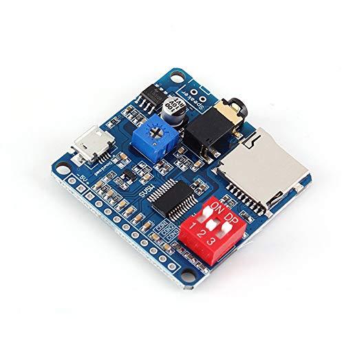 Für Arduino MP3 Voice Playback-Modul Musik-Player UART I/O-Trigger-Verstärker Klasse D 5W SD/TF-Karte