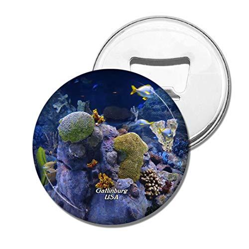 Weekino USA Amerika Gatlinburg Ripleys Aquarium der Smokies Bier Flaschenöffner Kühlschrank Magnet Metall Souvenir Reise Gift