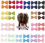 40pcs 2 Zoll Baby Mädchen Haarschleifen Krokodilklemmen Grosgrain Band Haarspangen Haarschmuck für Kinder Kleinkinder Neugeborene